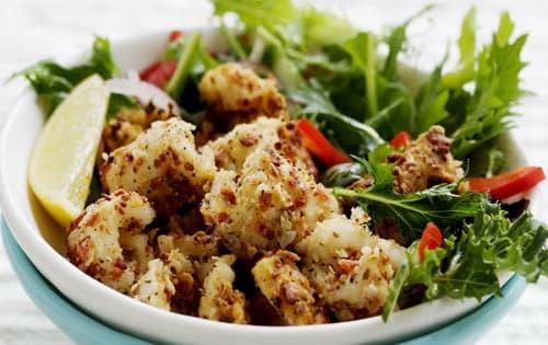 Salt & Lemon-pepper Calamari Salad - Cafe B2B