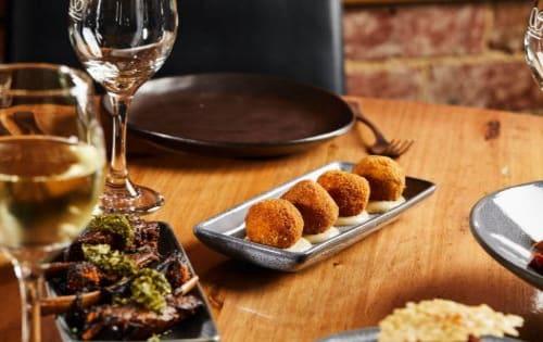 Mushroom & Truffle Arancini (Four pieces) - Shanikas Berwick
