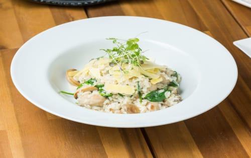 Mushroom Risotto (V) (GF) - Cafe B2B