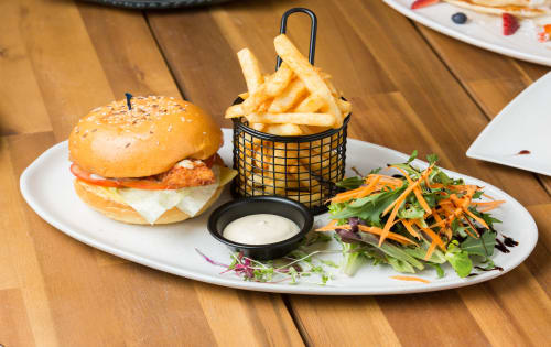 Chicken Parma Burger - Cafe B2B