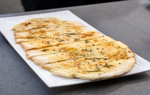 Side-Red gum fired, rosemary garlic bread - Luna's Food & Wine Bar
