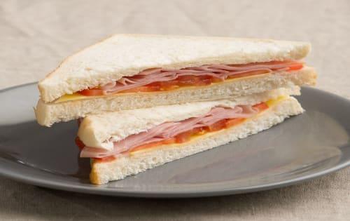 Ham, Cheese & tomato on Sourdough or Gluten Free Toast - Luna's Food & Wine Bar