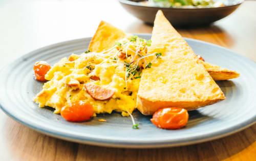 Chilli scrambled eggs - Luna's Food & Wine Bar