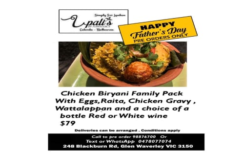 Fathers Day Special - Upalis Melbourne