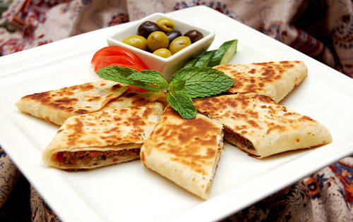 Chicken and Cheese Rotti - Upalis Melbourne