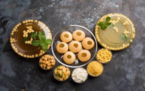 Pani Puri (6pcs) - Welcome Indian Restaurant