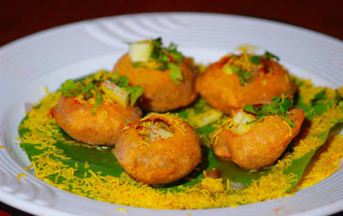 Dahi Bata Puri - Masala Bar And Grill