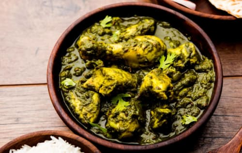 Saag chicken   Blend of Curries   Masala Bar And Grill
