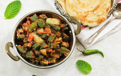 Bhindi Masala   Blend of Curries   Masala Bar And Grill