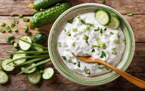Cucumber Raita | Indian Breads / Rice / Accompaniments | Masala Bar And Grill