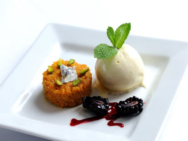 Gajar halwa with ice-cream - Masala Bar And Grill