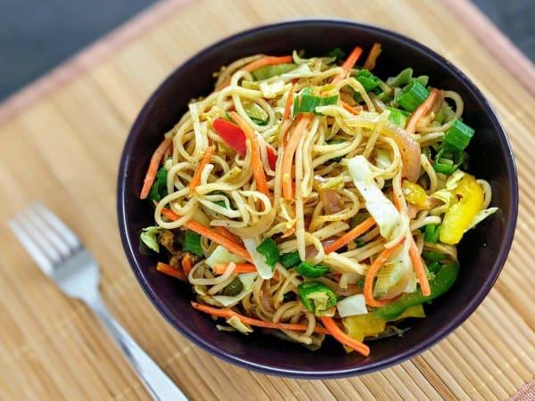 Hakka Noddles Veg | Indo-Chinese Dish | Masala Bar And Grill