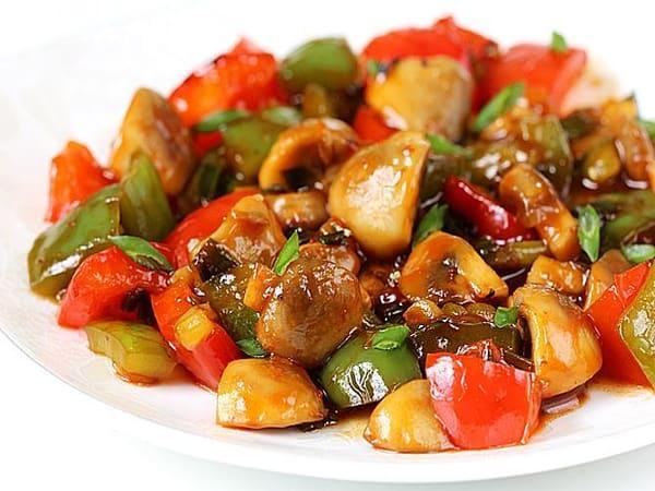 Chilli Mushroom - Masala Bar And Grill