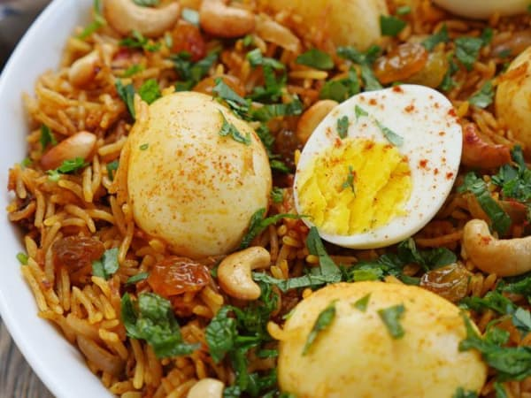 Egg Briyani  - Welcome Indian Restaurant