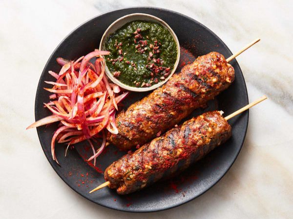Lamb Seekh Kebab (4 pcs) - Welcome Indian Restaurant
