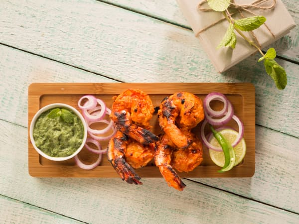 Tandoori Prawns (6 pcs) - Welcome Indian Restaurant