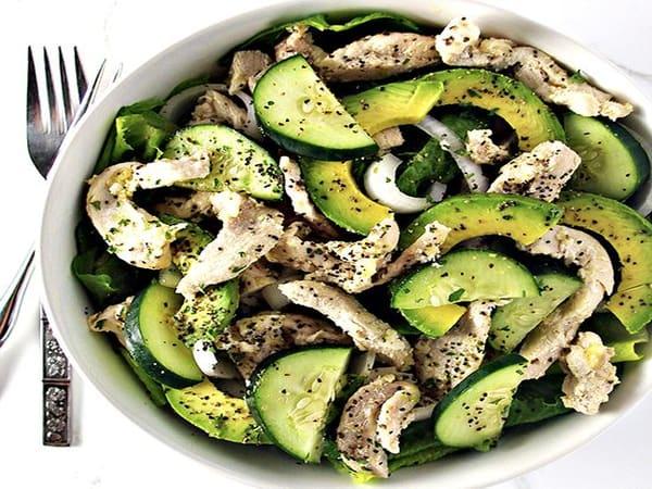 Buy Chicken Avocado Salad Online in Melbourne | Avocado Salad (GF) | Cafe B2B