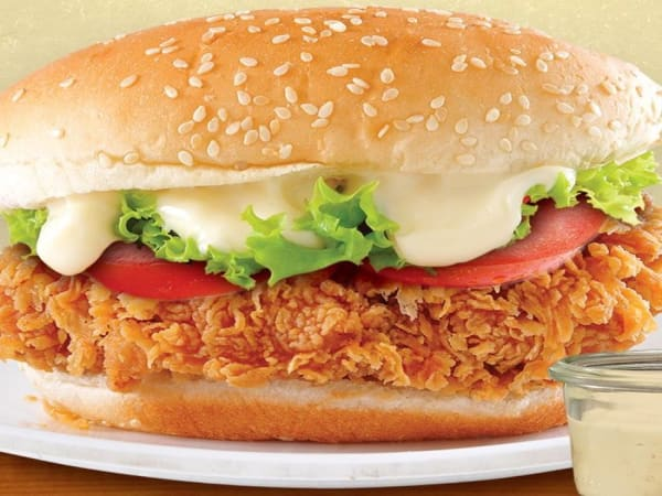 Southern Fried Chicken Burger - Cafe B2B