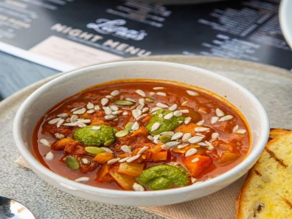 Chick Pea Soup - Luna's Food & Wine Bar