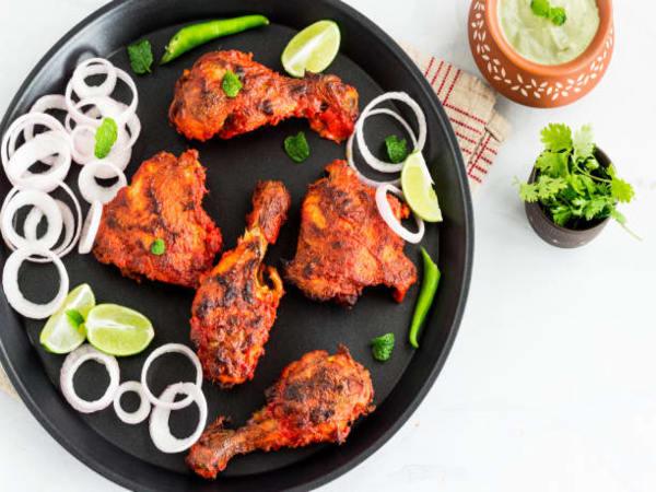 Tandoori Chicken  Non-Veg Dish   Masala Bar And Grill
