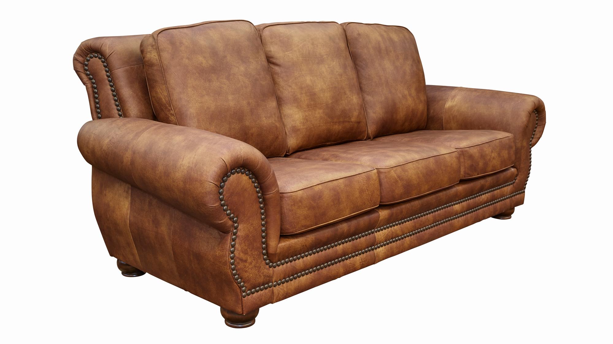 Carnegie Fawn Leather Sofa, , hi-res