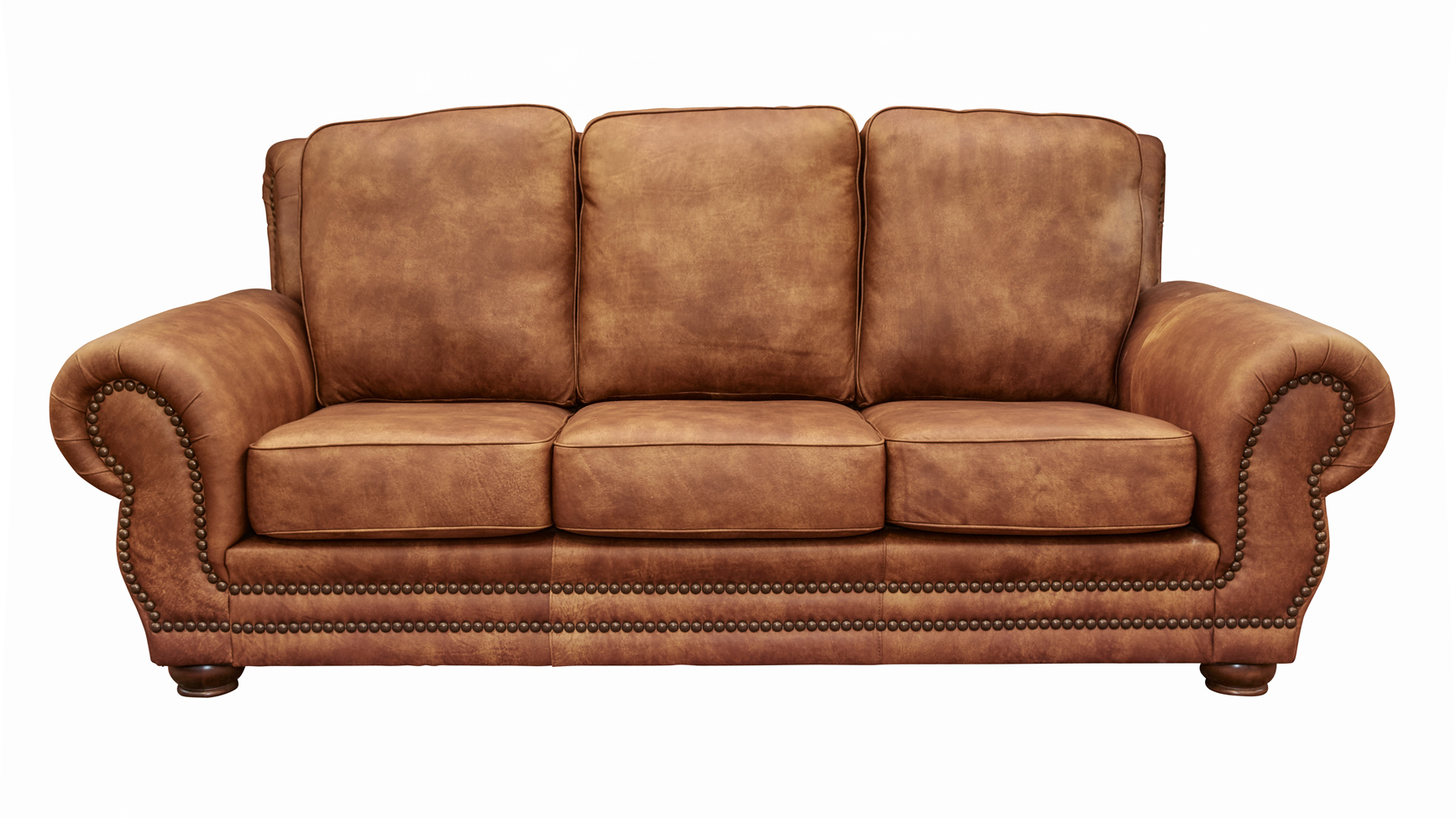 - Carnegie Fawn Leather Sofa
