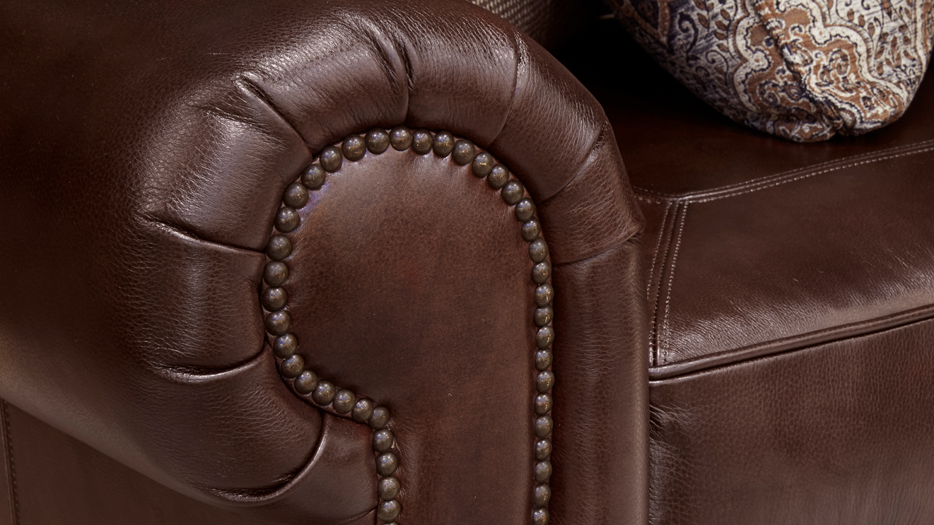 Liberty Leather Chocolate Loveseat, , hi-res