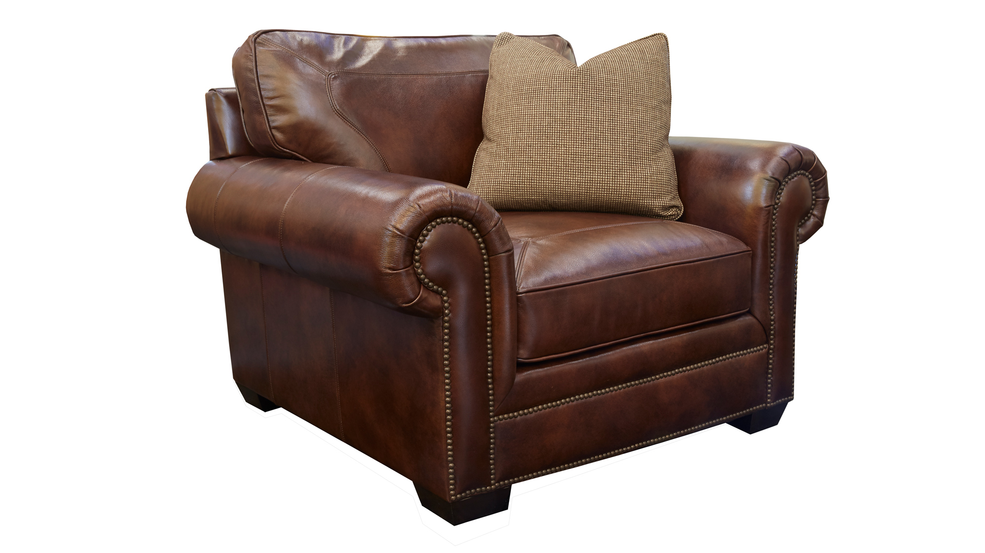 Liberty Leather Chocolate Chair, , hi-res