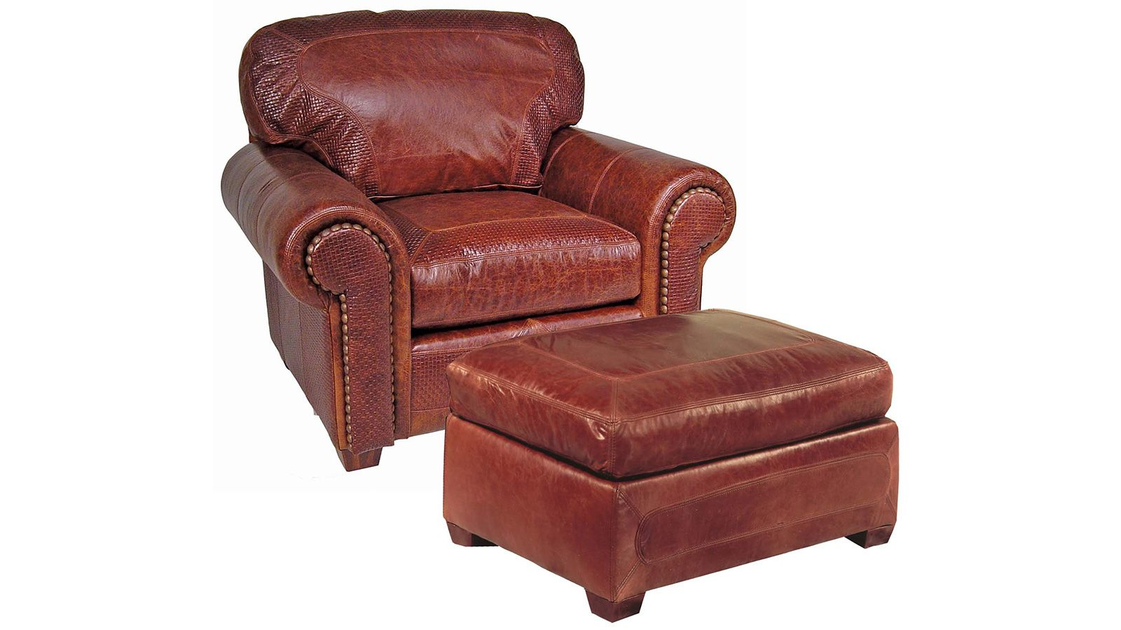 Stickley Santa Fe Chair & Ottoman, , large