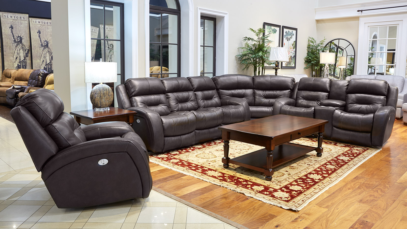 Showcase Maximus Fossil Reclining Loveseat, , hi-res