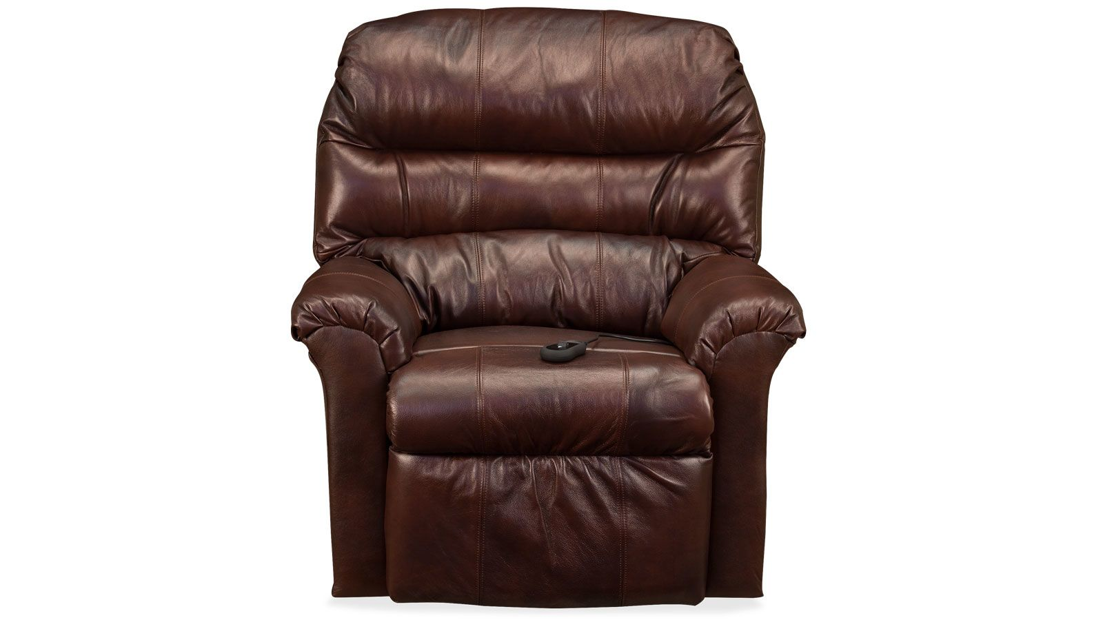 Brown Leather Match Power Lift Chair