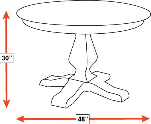 "Weston 48"" Round Dining Table, , hi-res"