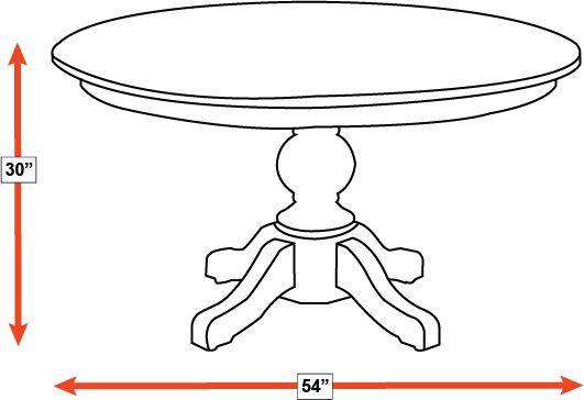 "Baytown Asbury Maple 54"" Round Dining Table, , hi-res"