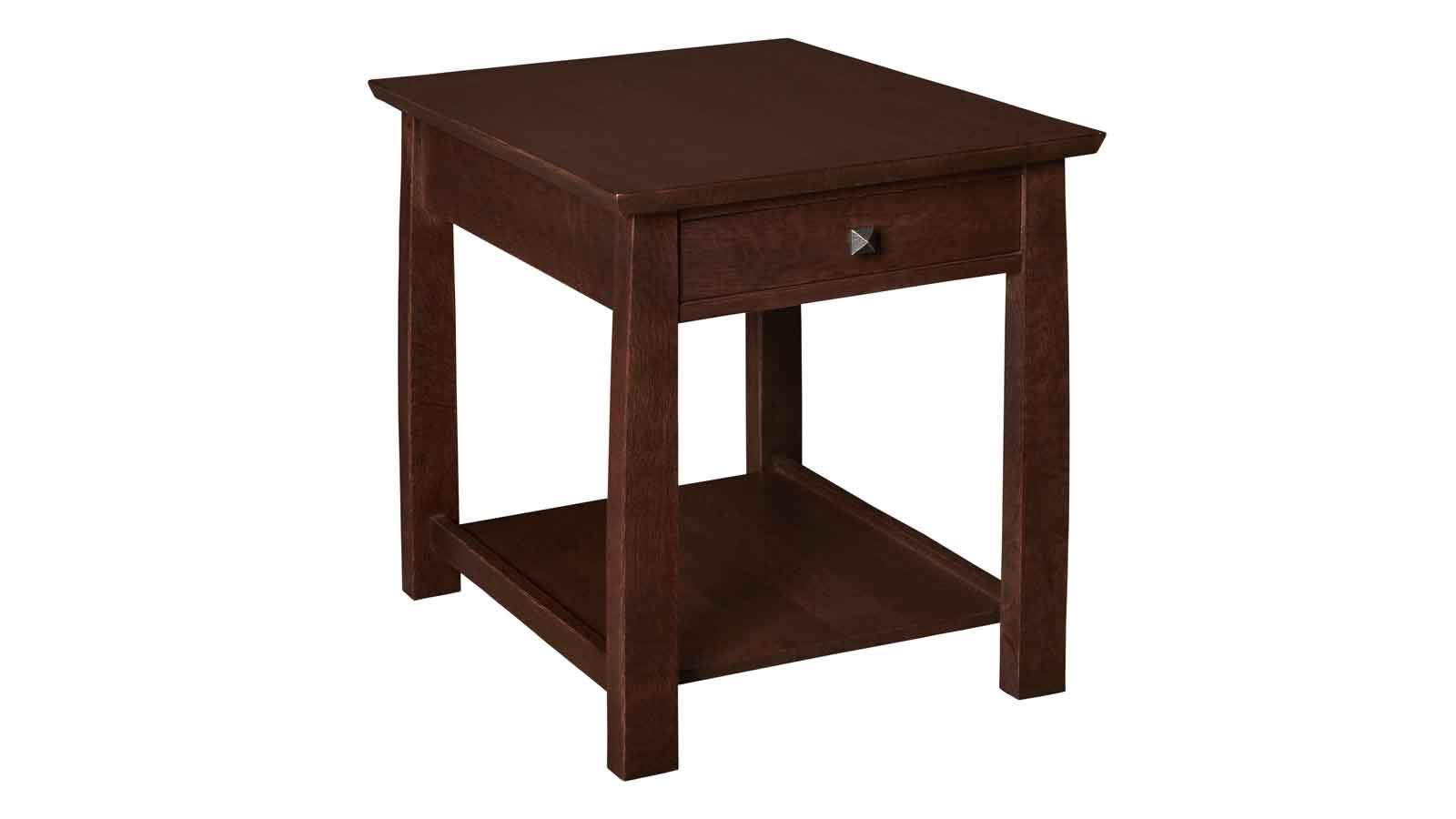 Stickley 1 Drawer Rectangle End Table, , hi-res