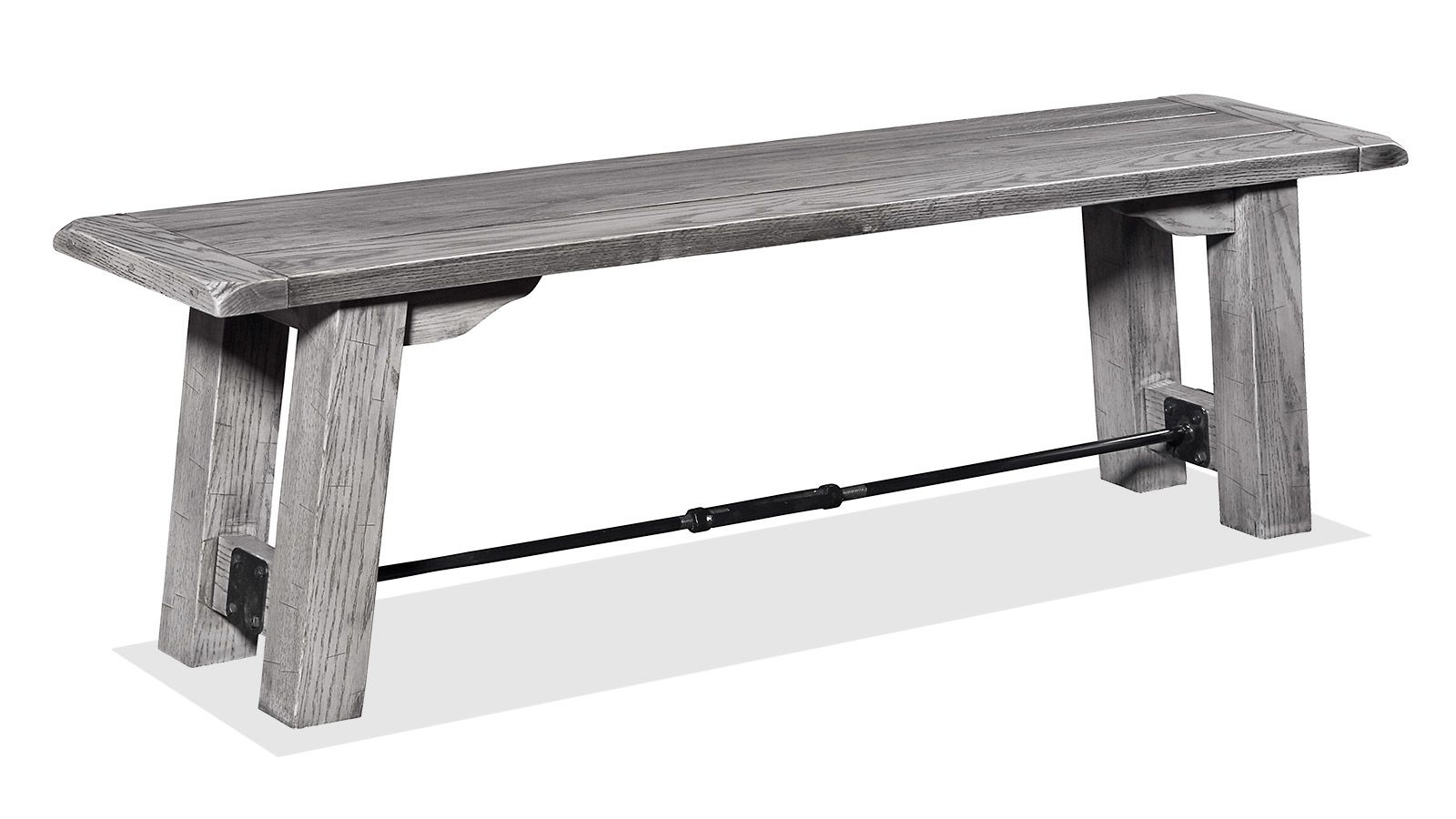 Harlingen Grey Oak Settlers Bench, , hi-res