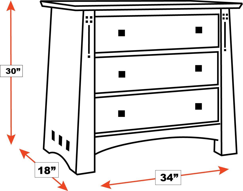 Stickley Highlands 3-Drawer Nightstand, , hi-res