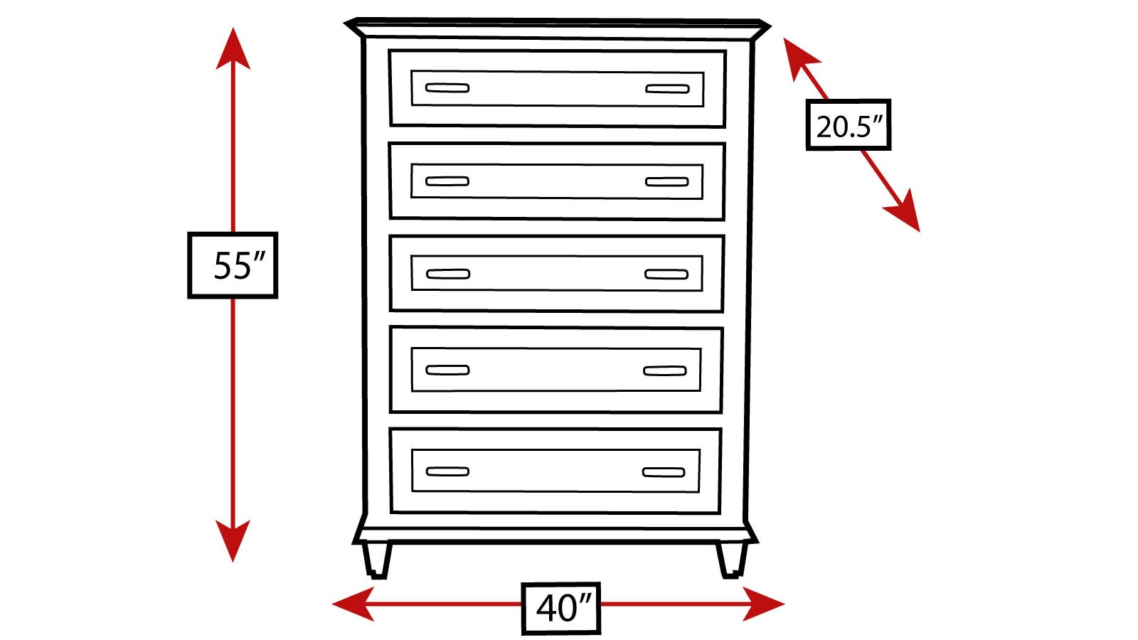 Rosenberg 5-Drawer Chest, , hi-res