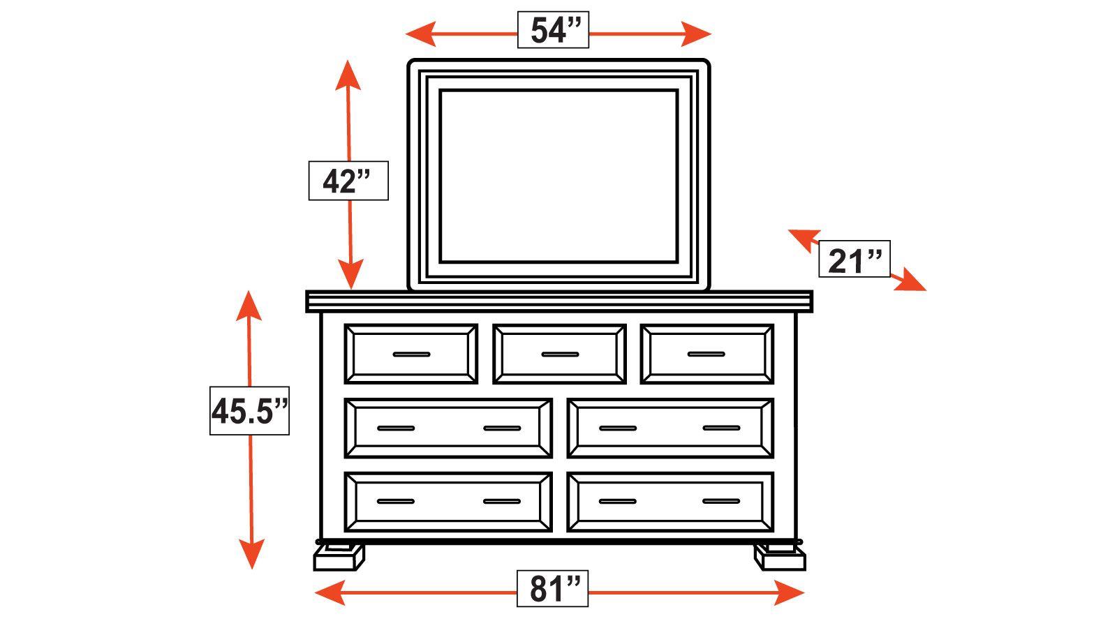 Big Bend Dresser and Mirror, , hi-res