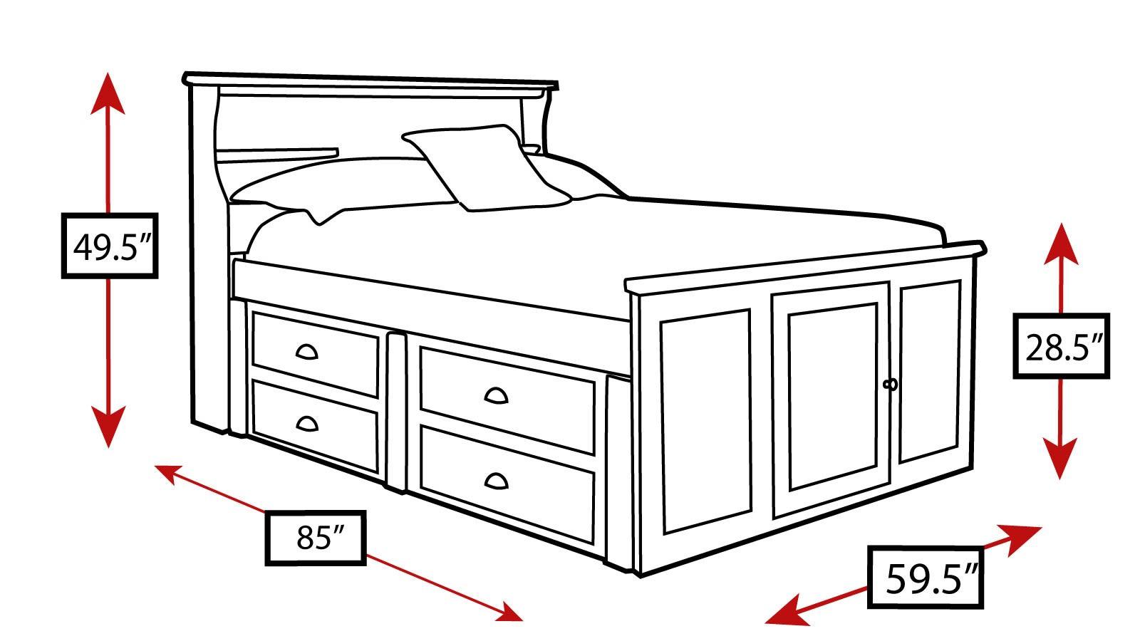 Turkey Creek Black Twin Bed, , hi-res