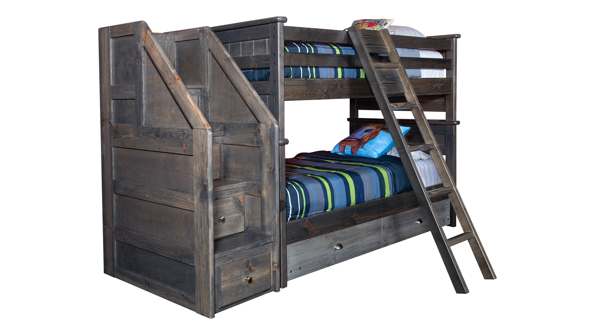Turkey Creek Rustic Gray Twin over Twin Bunk Bed, , hi-res