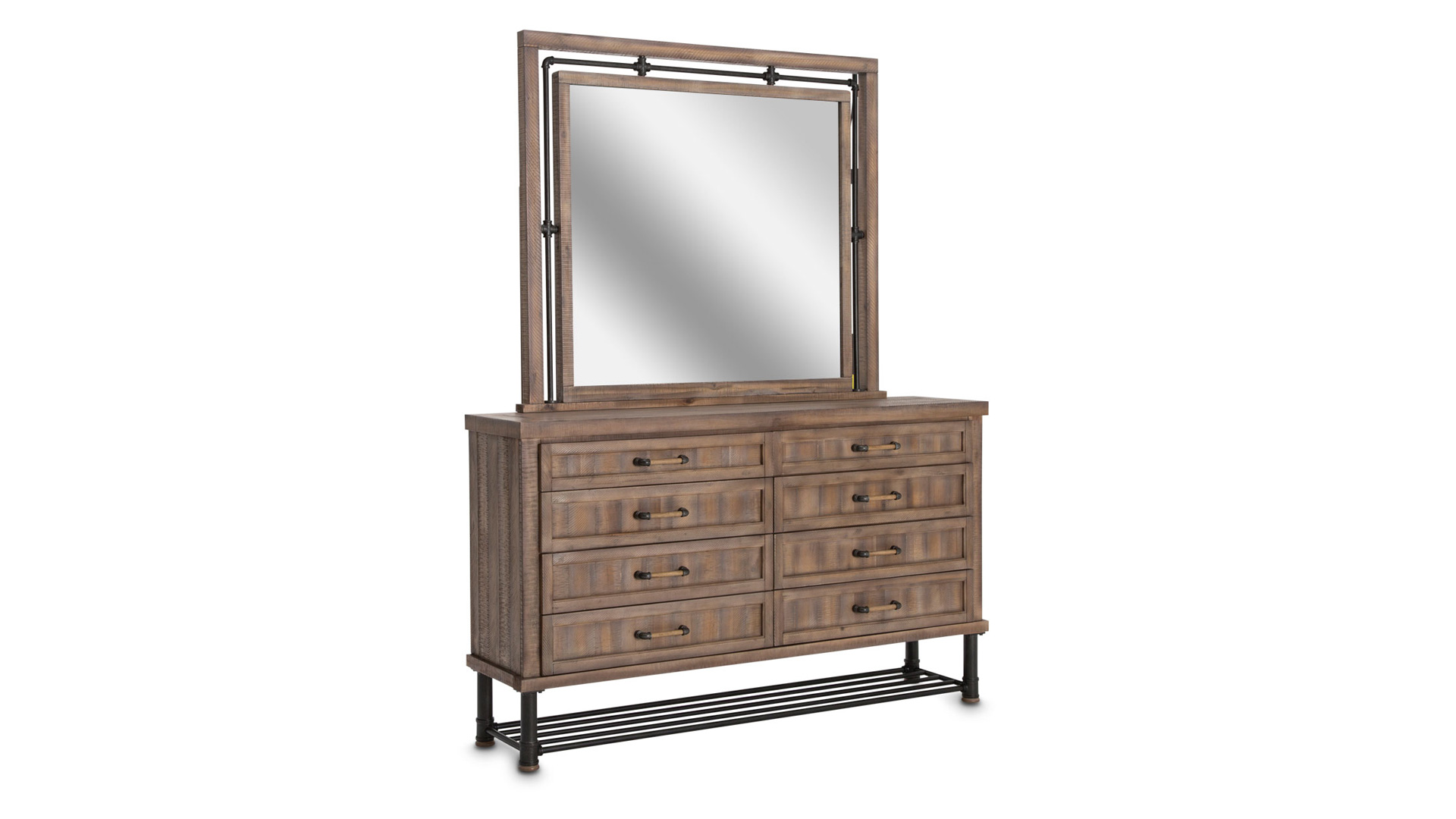 Import Reclaimed Crossing Dresser and Mirror, , hi-res