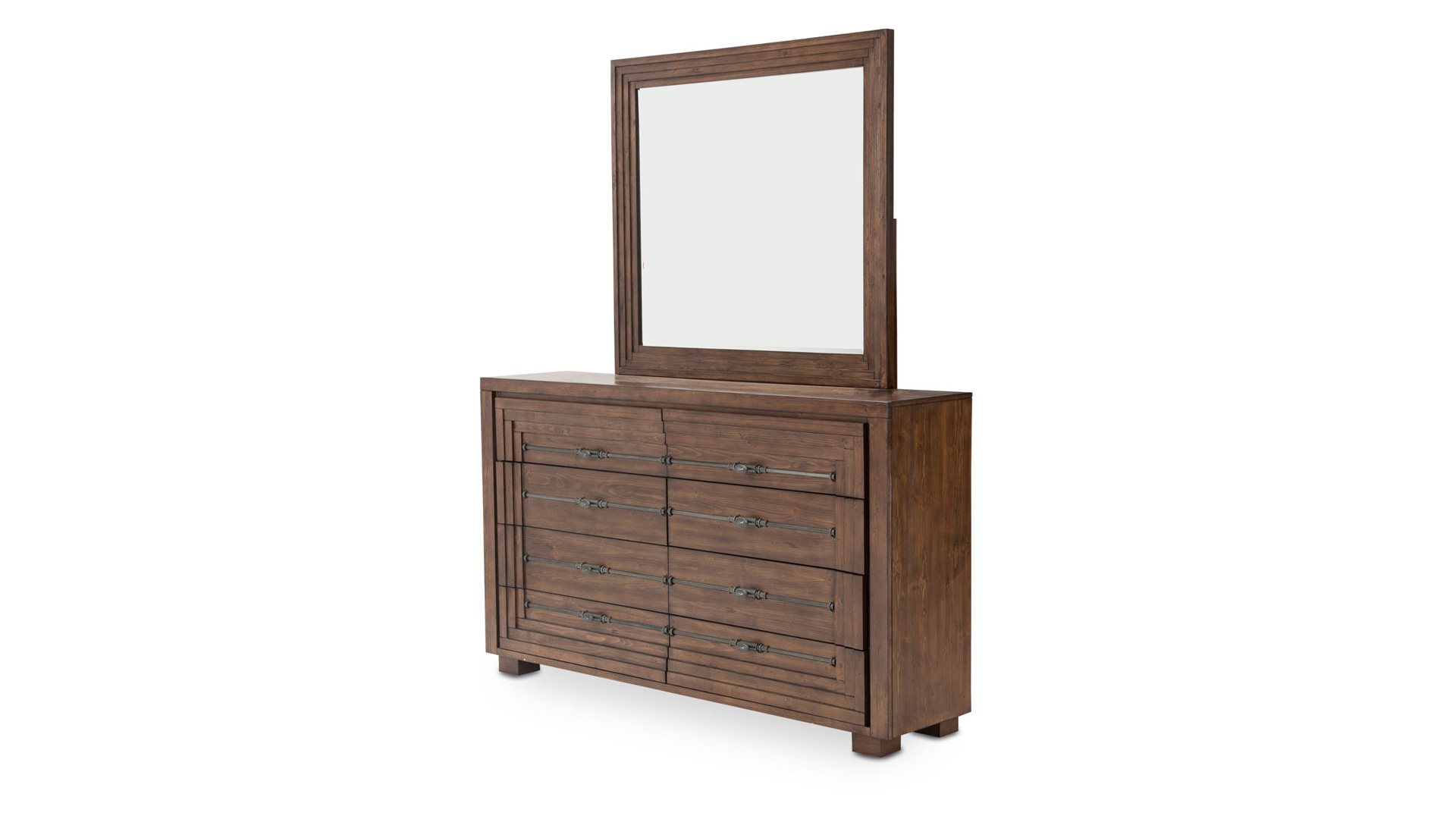 Import Rustic Ranch Dresser and Mirror, , hi-res