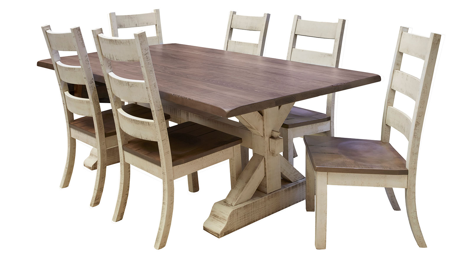 Farmhouse Trestle Portabella Dining Table, , hi-res