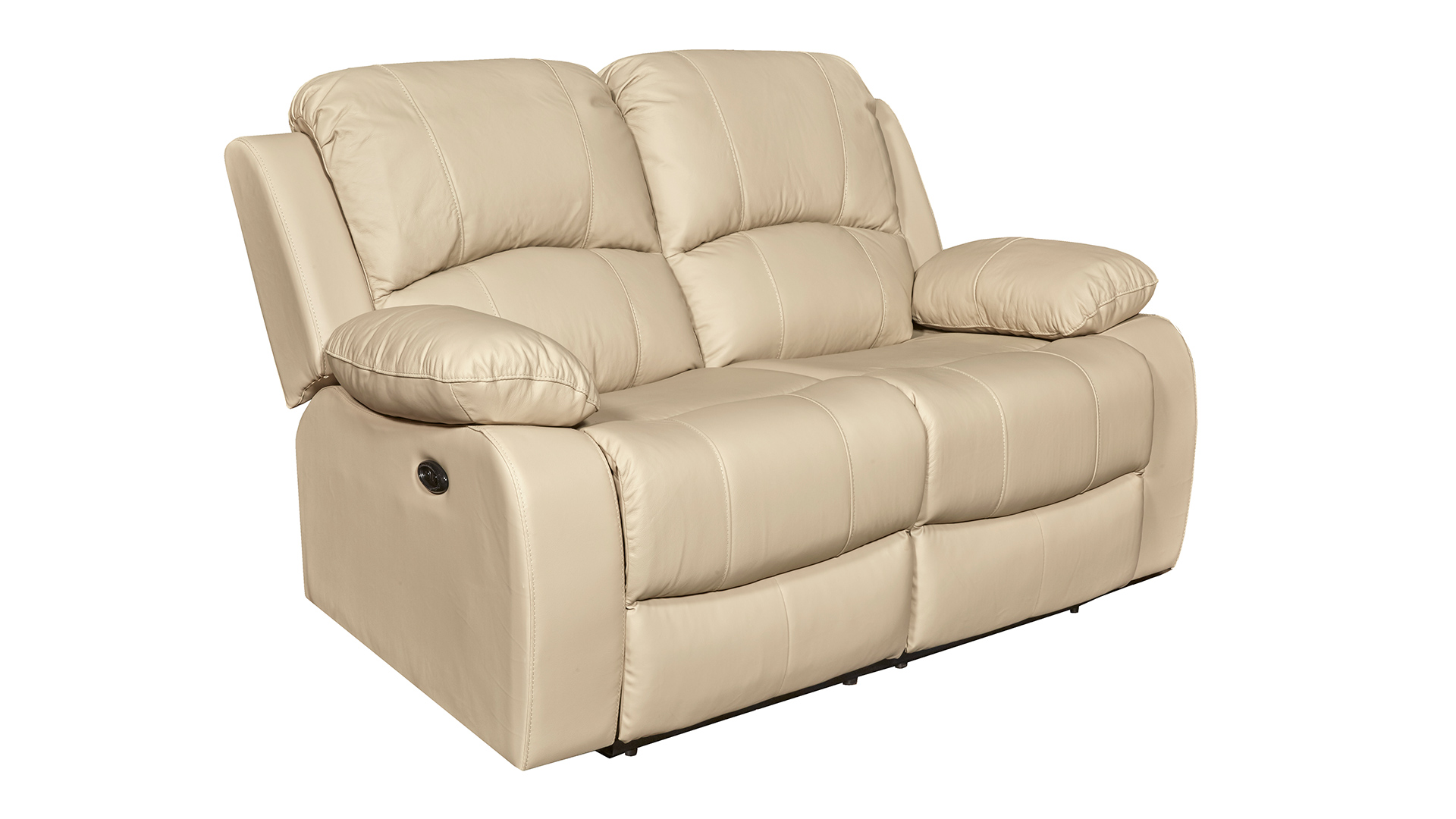 Winnfield Taupe Leather Power Motion Loveseat, , hi-res