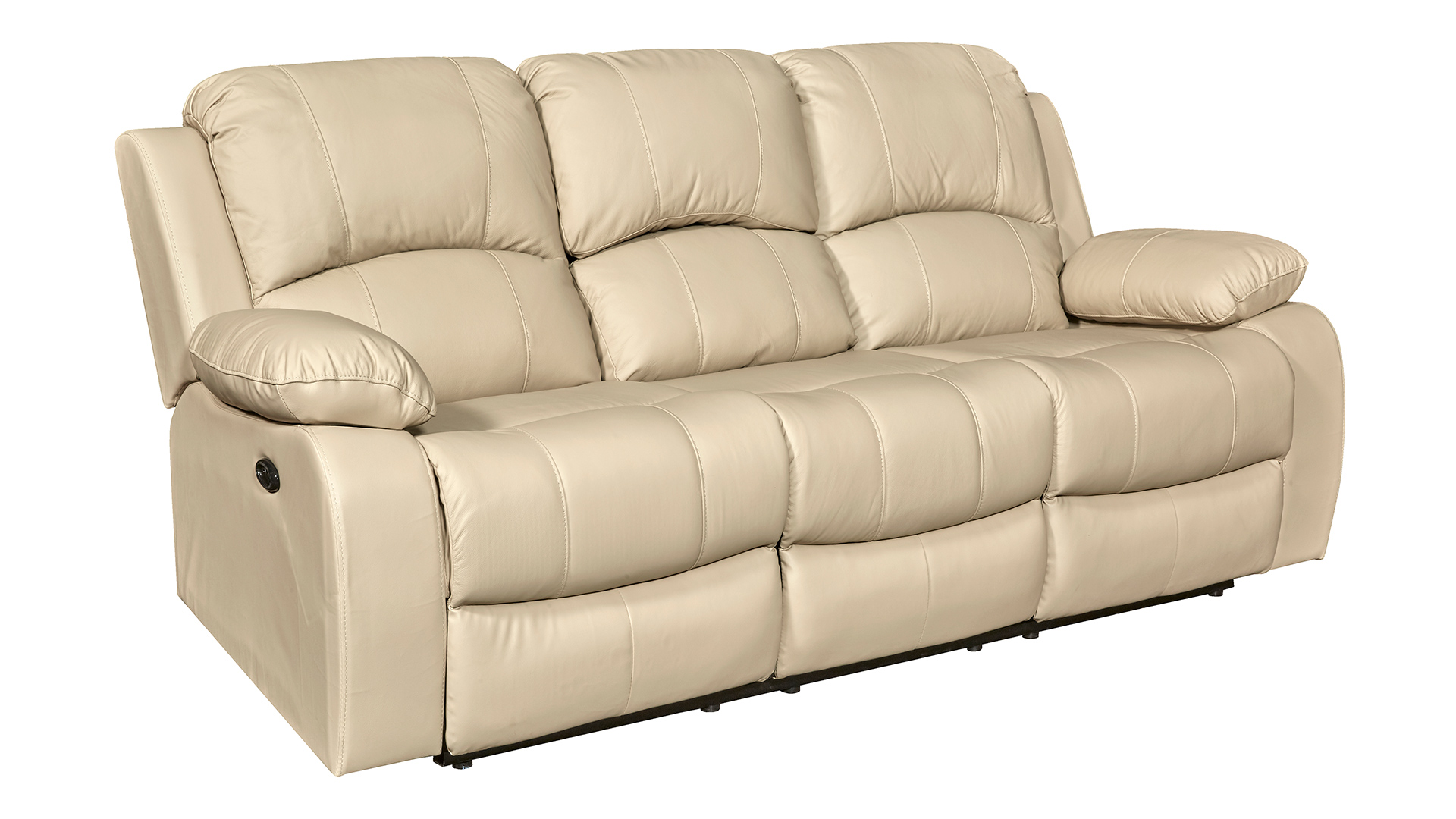 Winnfield Taupe Power Motion Leather Sofa, , hi-res
