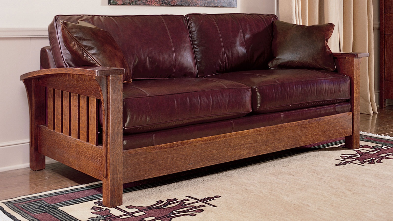 Stickley Orchard Street Leather Sofa