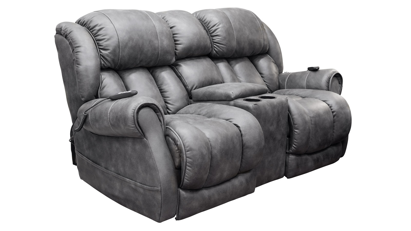 Ocean Slate #14 Power Headrest Loveseat, , hi-res