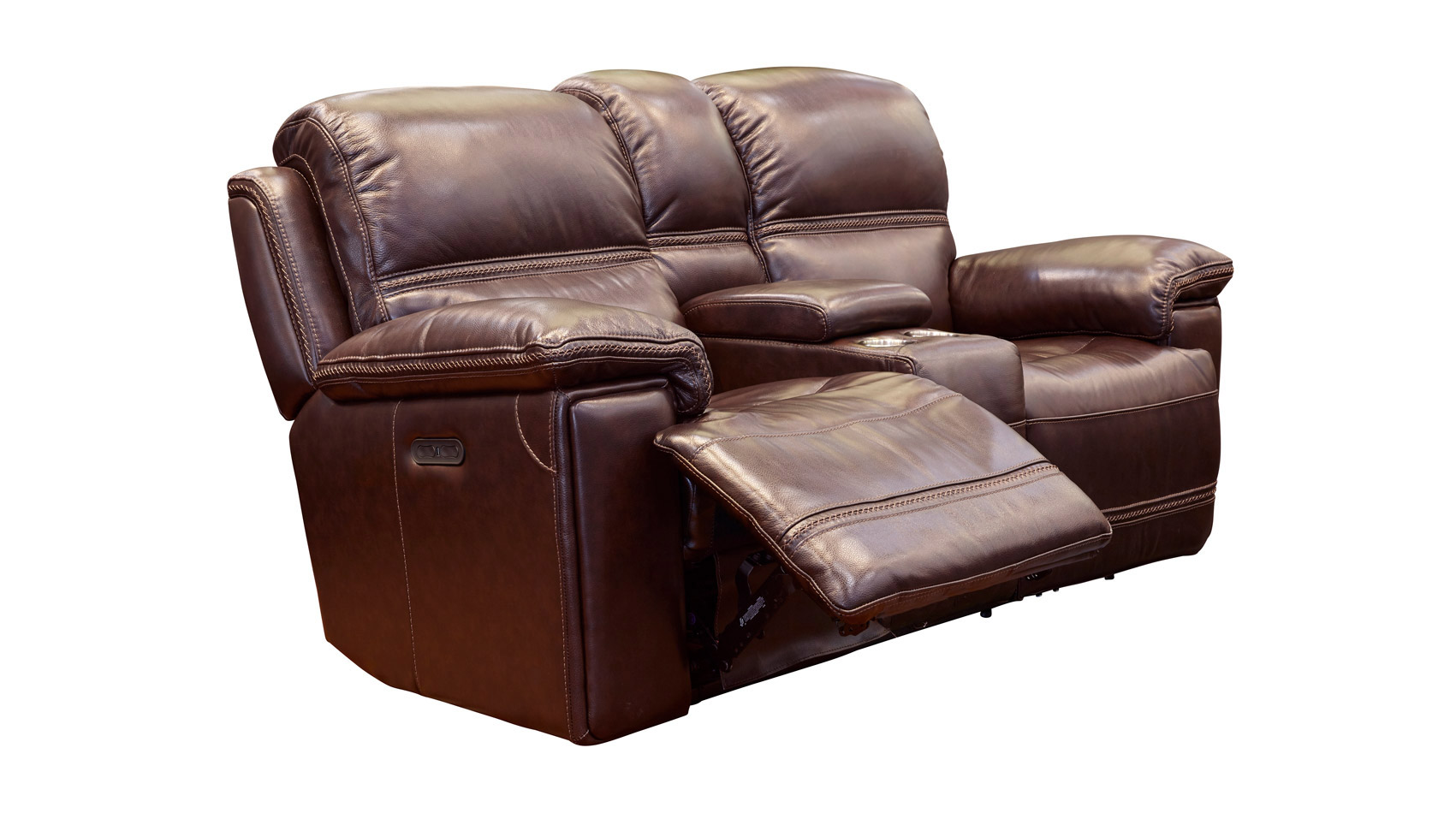 Secretariat Burgundy Power Reclining Loveseat with Console, , hi-res