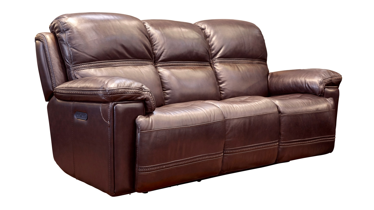 Secretariat Burgundy Power Reclining Sofa, , hi-res