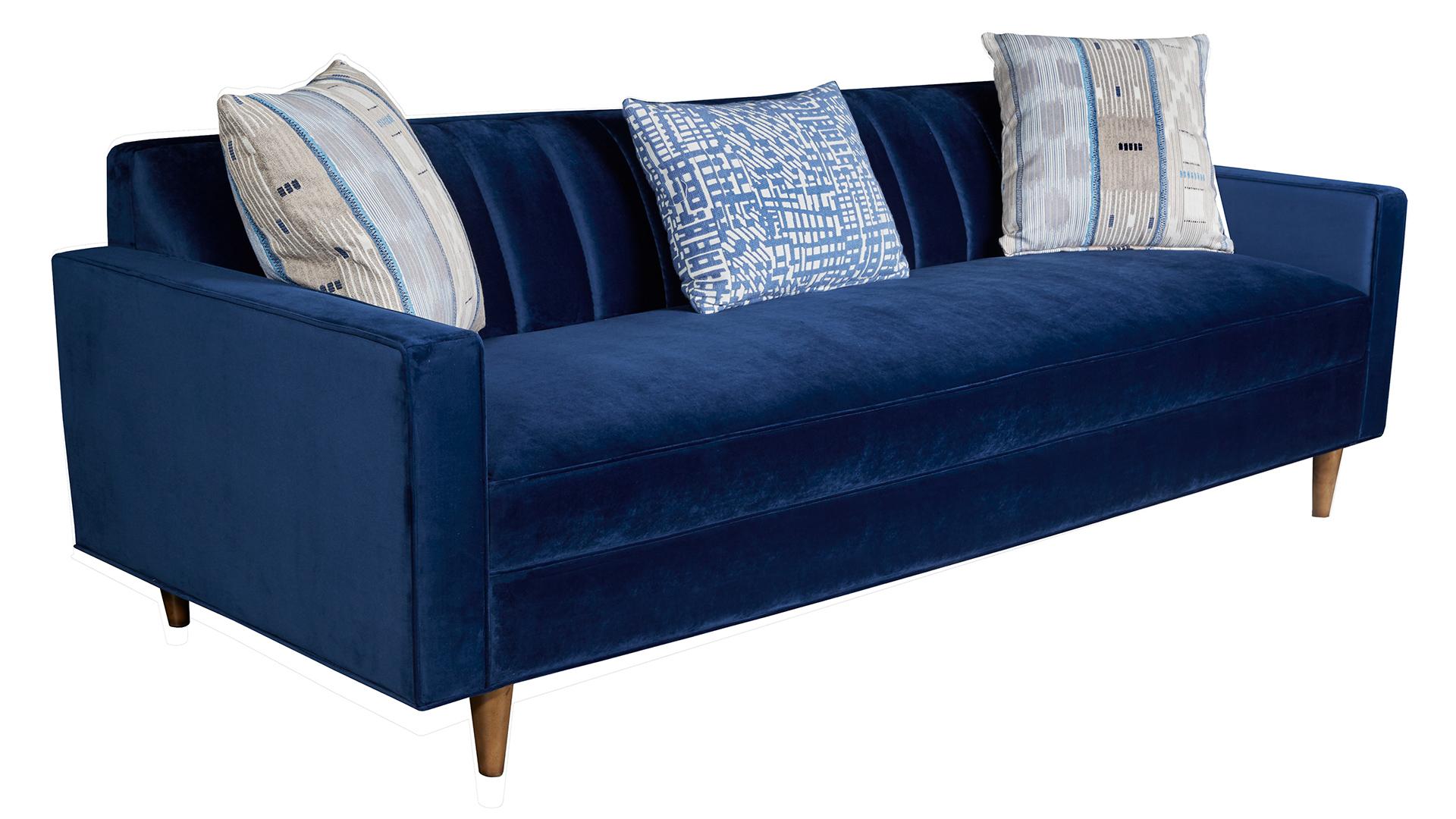Jace Navy Blue Sofa, , hi-res